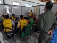 No Centro de Coordenação foram realizadas reuniões diárias para o encaminhamento dos incidentes simulados