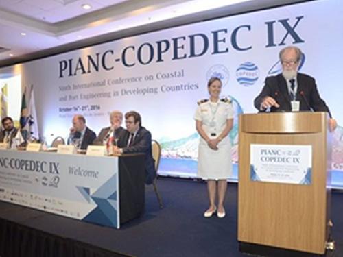 Militar da DPC recebe prêmio internacional na IX PIANC-COPEDEC