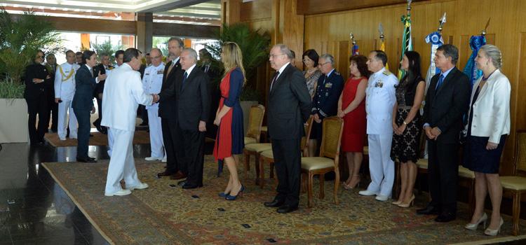 Presidente Temer recebe os cumprimentos de fim de ano dos oficiais-generais