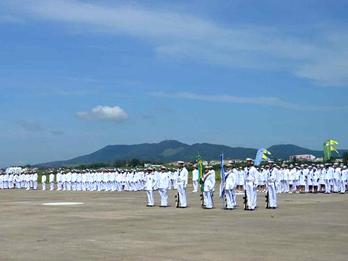 Solenidade com militares do Complexo Aeronaval