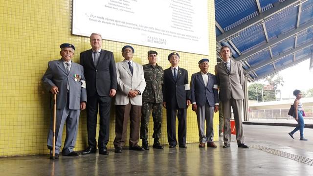 Nos 119 anos de Belo Horizonte, heróis da FEB recebem placa de homenagem
