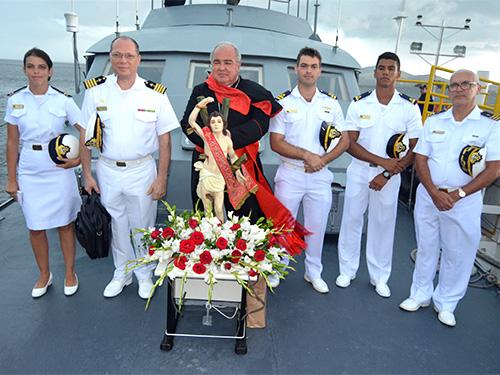 Imagem peregrina de São Sebastião chega ao 1º Distrito Naval