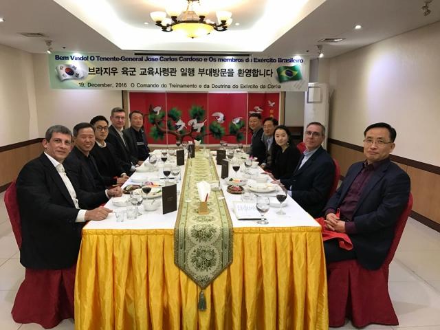 Comitiva do Centro de Doutrina do Exército visita a República da Coreia