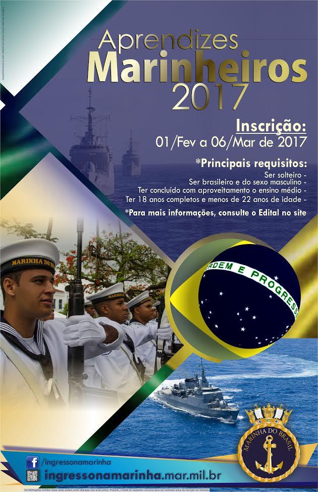 Marinha abre concurso para Aprendizes-Marinheiros