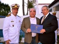Capitão dos Portos do Ceará, o novo Presidente da Soamar-Camocim e o Presidente da Soamar-CE