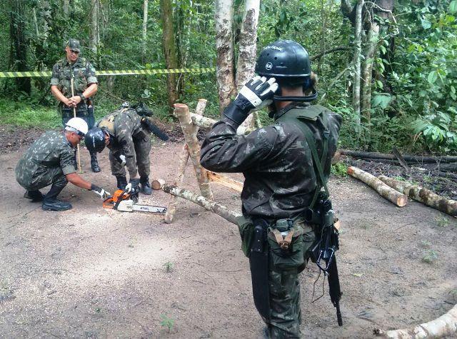 CIGS adestra cabos e soldados para compor o Pelotão de Selva 2017