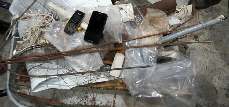 Fuzileiros Navais encontram 114 armas brancas em pavilhão de Alcaçuz, RN