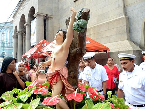 Marinha do Brasil participa de homenagem a São Sebastião