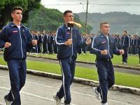 Alunos durante a cerimônia