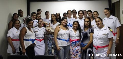 """Participantes do """"Bebê a bordo""""- Curso para Gestantes e Lactantes do HNRe"""