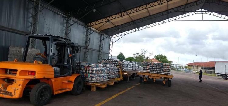 As cestas básicas foram enviadas pelo Governo Federal