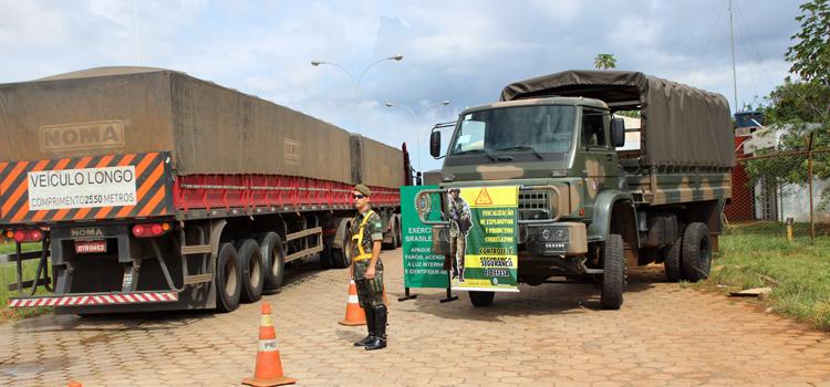 A Operação Rastilho inclui a fiscalização de transporte de materias explosivos