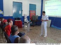 Militar da CPAL ministra palestra na Colônia de Pescadores