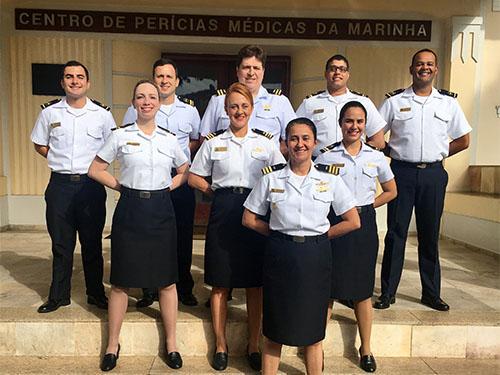 Oficiais participantes do curso
