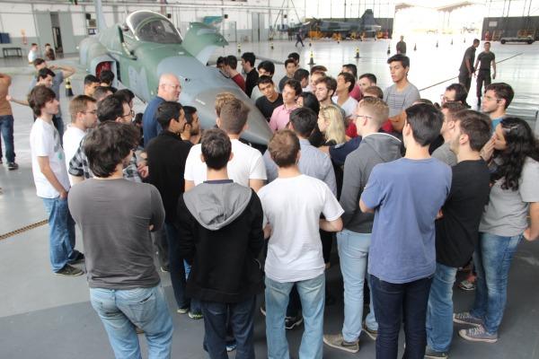 Instrução sobre os procedimentos realizados antes do voo do F5