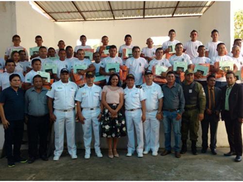 Cerimônia de entrega dos certificados dos novos aquaviários