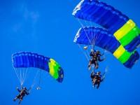 A disputa vale a vaga brasileira no 41º Campeonato Mundial Militar de Paraquedismo, em Warendorf, na Alemanha