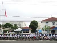 Civis e militares pedalaram cerca de 6 km em Aracaju (SE)