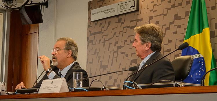 No Senado, Jungmann destaca a necessidade de maior atenção aos temas da Defesa Nacional