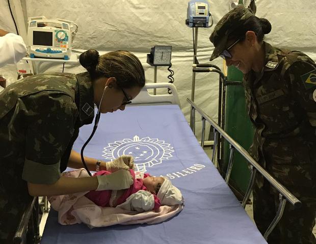 Maria Clara Silva nasceu no Hospital de Campanha do Exército