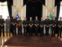 Delegações da MB e ARCH no Estado-Maior Geral da Armada do Chile
