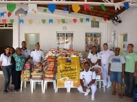 800 kg de alimentos doados ao Projeto Bom Samaritano