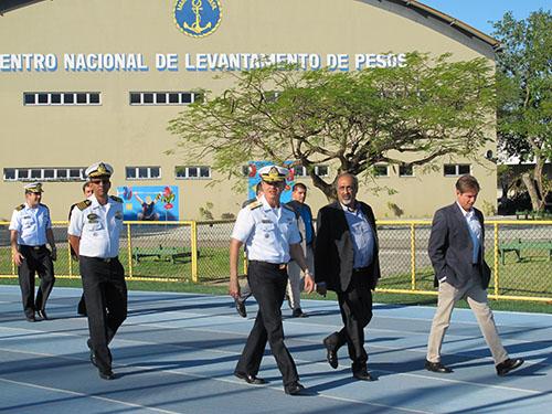 Presidente da Comissão do Esporte da Câmara dos Deputados visita o CEFAN