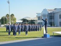 Atletas da EN e do Colégio Naval na cerimônia de abertura