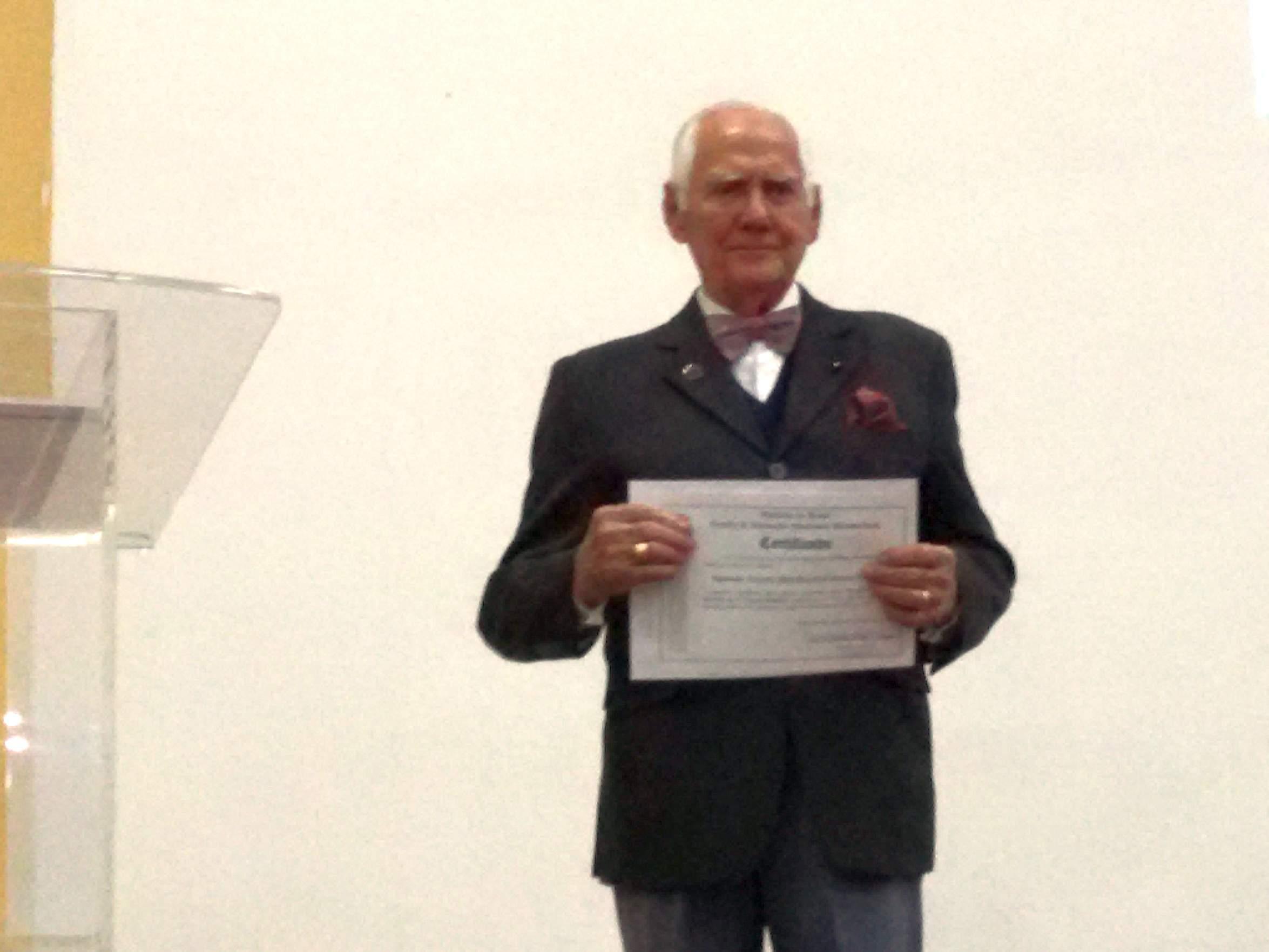 Palestra do ex-combatente Ten MB Melchisedech Afonso de Carvalho no Centro de Instrução Almirante Wandenkolk