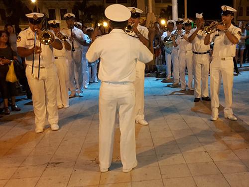 Bandas de Música da Marinha do Brasil e do Peru realizam apresentação conjunta
