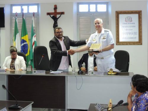 Comando do 3º Distrito Naval recebe homenagem da Câmara Municipal de Ceará-Mirim (RN)