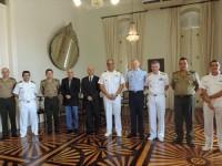 Comitiva Técnica de Serviço Militar do Ministério da Defesa e Comandante do 4ºDN
