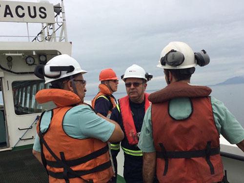 Comitiva da Diretoria de Portos e Costas visita o Porto de Itaguaí (RJ)