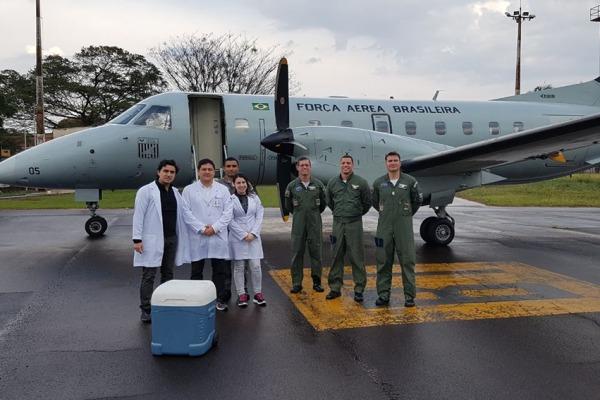 Esquadrão Carajá transporta sete órgãos em quatro dias seguidos
