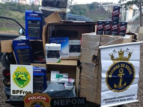Marinha do Brasil apoia a repressão a delitos transfronteiriços no rio Paraná
