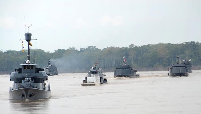 Navios das Marinhas do Brasil, Colômbia e Peru realizam exercício de Leap Frog