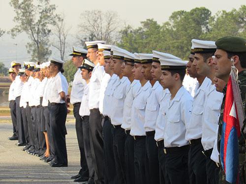 Pelotão do Comando do 8º Distrito Naval prestigiou o evento com desfile militar
