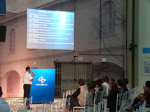 DelLaguna realiza palestra no Centro Acadêmico de Direito de Tubarão (SC)
