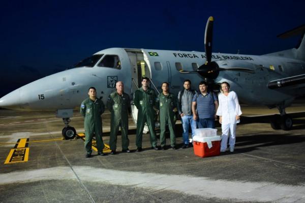 Esquadrões da FAB transportam fígado na Região Norte do País