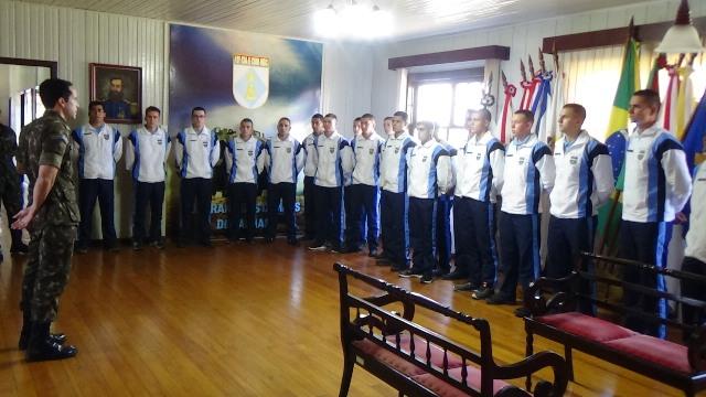 Subunidade recebeu a visita instrução dos Alunos do NPOR do 5ª Btl E C Bld