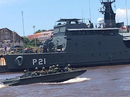 Marinha realiza ações de garantia da votação e apuração durante eleições no AM