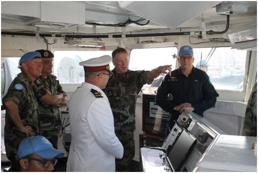 Força-Tarefa Marítima da UNIFIL conduz exercício conjunto para treinamento da Marinha Libanesa