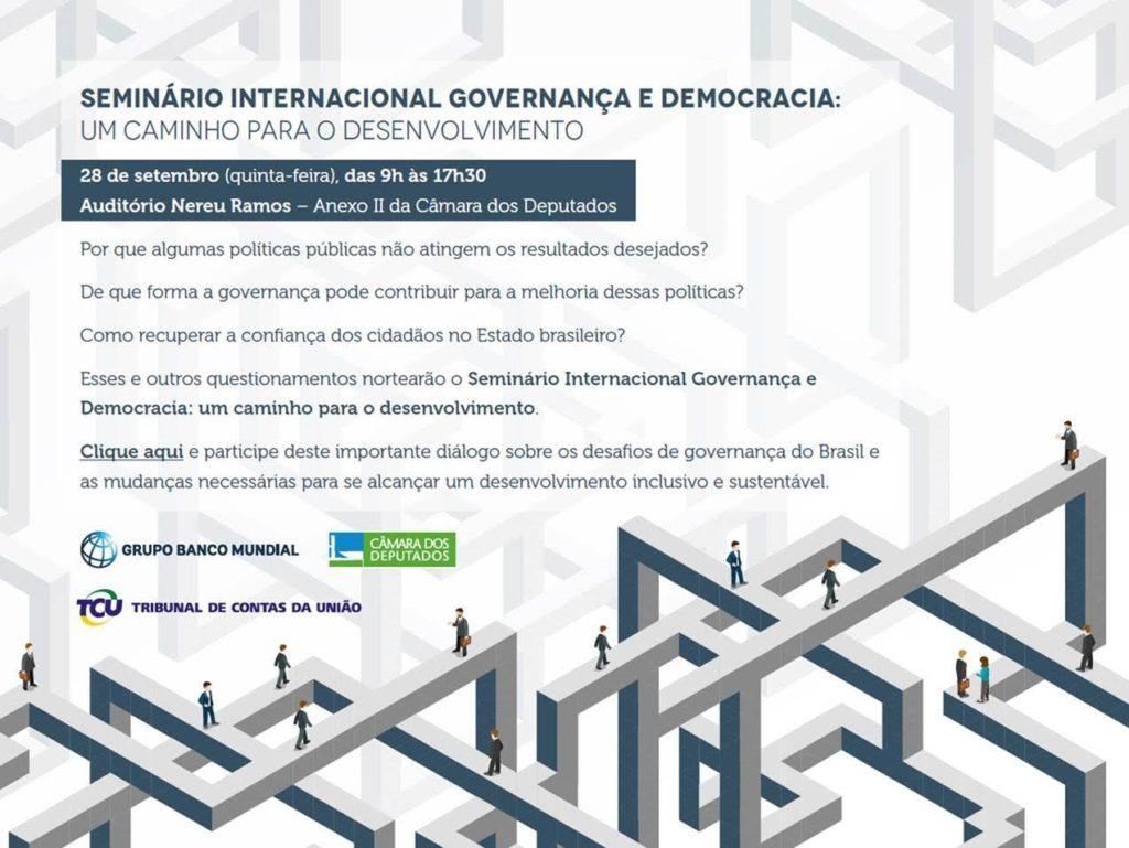 Seminário internacional promove debate sobre governança e democracia no Brasil