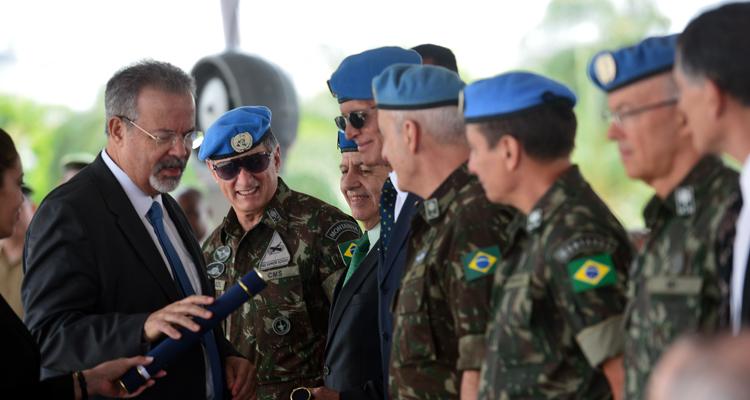 Homenagem à participação brasileira em Missão de Paz