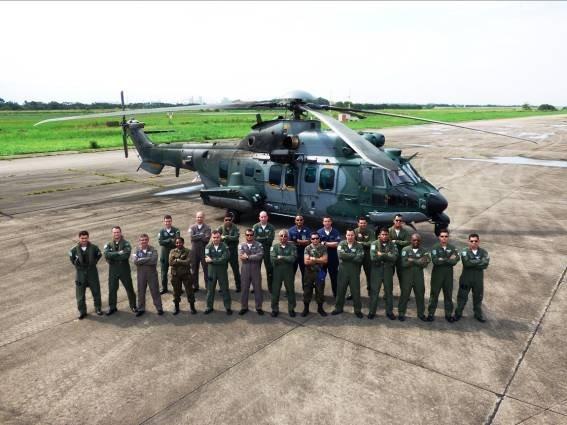 IPEV realiza avaliação operacional em helicóptero H225M utilizado pelas Forças Armadas