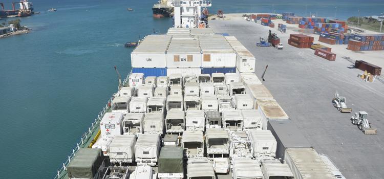 Material empregado pelas Forças Armadas no Haiti retorna ao Brasil