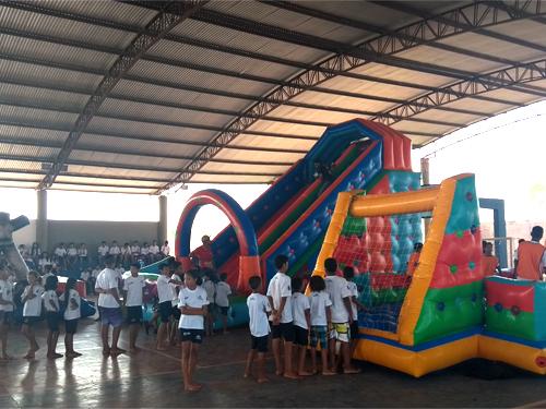 Grupamento de Fuzileiros Navais de Ladário comemora o dia das crianças com os alunos do ProFEsp