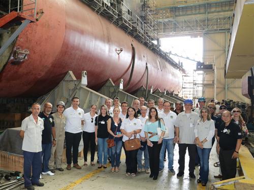 Comitiva da ADESG-SP visita o Arsenal de Marinha