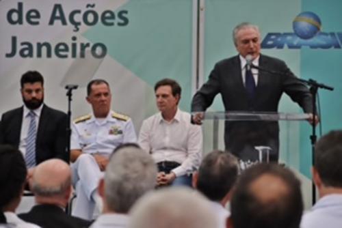 Presidente Michel Temer amplia ações sociais para crianças e jovens do Rio de Janeiro no CEFAN