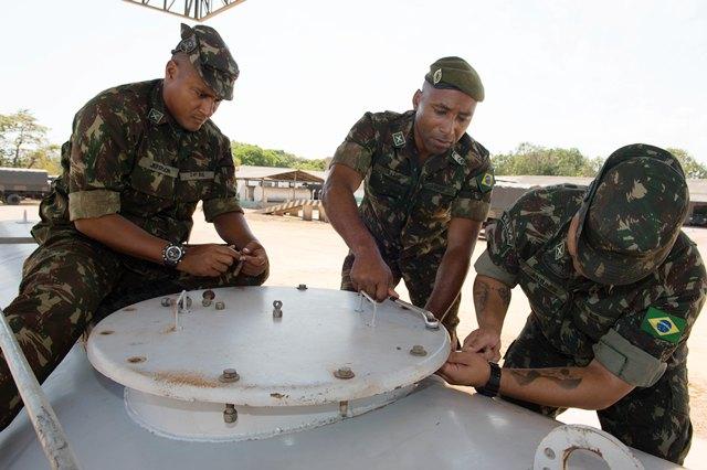 Exército promove estágio sobre módulo de abastecimento de combustível em região da Amazônia Oriental